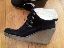Chaussures d'hiver compensées