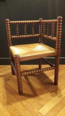 Chaise d'angle tressée