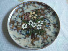Assiette en ceramique de Vallauris fleurs