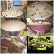 Grande table ronde 6 personnes