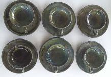 Service de tasse vintage  ceramique fait main