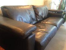 Salon cuir canapé + fauteuil