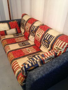 Canapé lit convertible en tissu