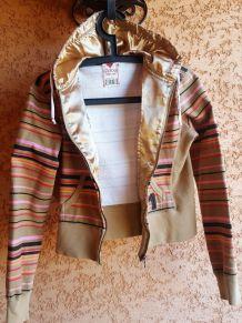 Gilet Guess Vintage Rayé à Capuche