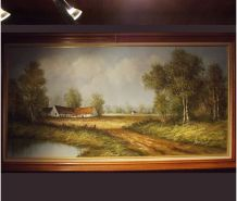 Peinture sur toile au couteau