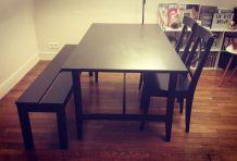 Table + banc + chaises