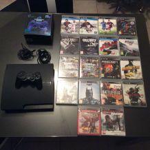 PS3 320 go + 2 manettes + 18 jeux