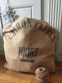 """Ancien sac de chanvre """"Charon Frères - Niort"""""""