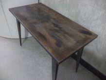 Petite table basse de salon vintage industriel