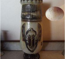 Vase en grès signé Guérin