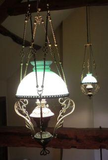 2 lampes de billard