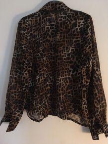 Chemise à motifs guépard