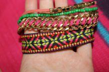 bracelet hippie perle effet doreo