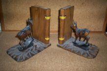 ancienne paire de serres-livres