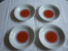 4 assiettes creuses porcelaine vintage winterling