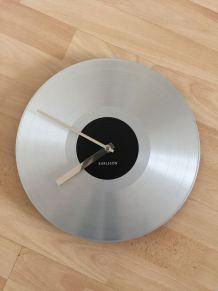 Horloge à pile style disque vinyl