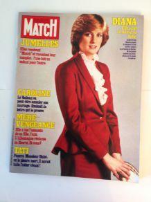 ancien Paris Match de collection de 1982 avec la princesse Diana