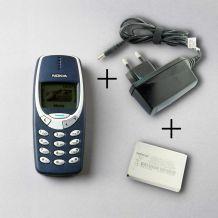 Nokia 3310 Reconditionné à neuf et debloqué tout opérateur + Batterie + Chargeur