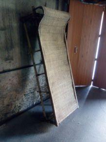 solarium chaise longue en rotin/bambou
