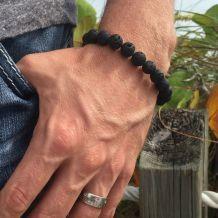Bracelet Pierre De Lave Naturelle