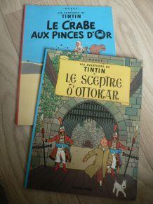 Hergé, Les aventures de Tintin, deux BD