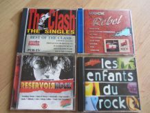 Lot 4 CD, 3 compiles Rock + Best of The Clash
