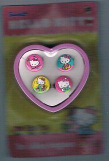 Lot de 4 bagues Hello Kitty