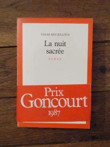 La Nuit Sacrée - Tahar Ben Jelloun - Prix Goncourt 1987