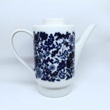 Cafetière Melitta porcelaine blanche et bleue 70s