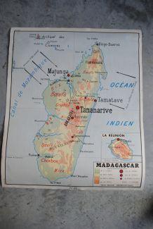 Carte scolaire Rossignol Madagascar et la communeauté Francaise