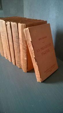 Collection de 13 livres anciens dans un style érotique de 1930