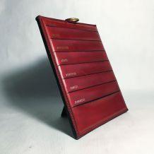 Organiseur cuir rouge vintage