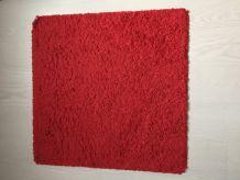 Tapis carré rouge
