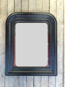 Miroir Louis Philippe 19e siècle patine noire