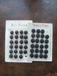 Plaquettes de boutons annees 30