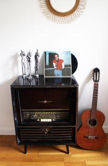 Meuble radio vintage Telefunken Orchestra années 50