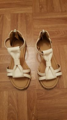 sandales blanches 30