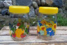 """Lot de 2 pots en verre """"Le Parfait"""" - Collection fruits"""