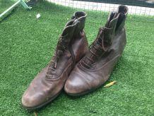 Bottines à lacets  vintage marron taille 39