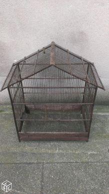 Cage à oiseaux ancienne faite main pour déco