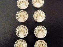 Lot De 10 Petits Boutons Ecrus Et Transparents- Diamètre 11mm- Neuf