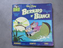 Livre disque 45 tours Disney Bernard et Bianca