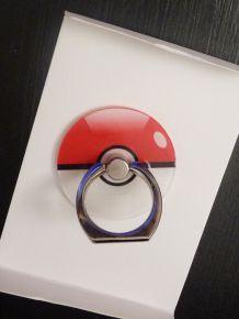 Bijou De Téléphone/Ipad Anti Chute Et Support Rotatif 360° - Bague Pokemon Rouge Elf Balle-Neuf