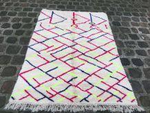 Tapis Azilal Berbère 2,60 x1,80m Tissé Main Unique