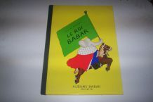 rare livre LE ROI BABAR dédicacer page de garde dos tissu