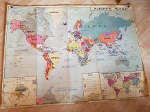 Carte scolaire vintage
