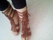 Sandales en daims