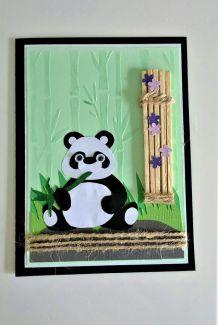Carte motif panda