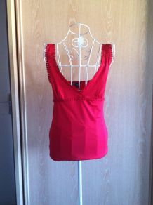 Top rouge Mango taille 38/M