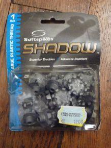 1 Set 20 Crampons De Golf Gris - Softspikes - Shadow - Large Plastic Thread - 12B0T1K